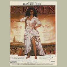 Carmen: Conductor Lorin Maazel signed Poster-style Ad. CoA