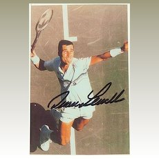 Autograph by Tennis Player Ivan Lendl. CoA