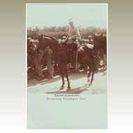 Austrian Arch Duke Ferdinand Karl on horse-back. Authentic Photo