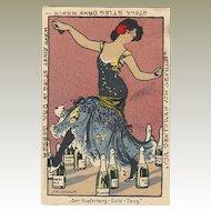 Old Kupferberg Sparkling Wine Litho Postcard 1905