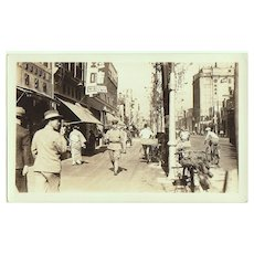 Vintage Photo from old Japan. Attractive Street Scene