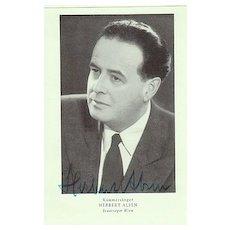 Herbert Alsen Autograph. CoA