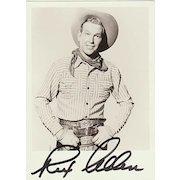 Rex Allen Autograph: Hand-signed Photo. CoA