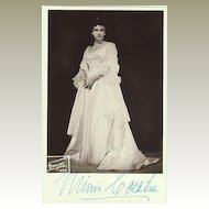 Mimi Coertse Autograph on b/w Photo, famous Soprano