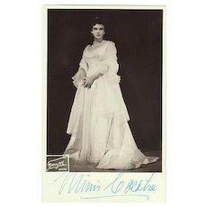 Mimi Coertse Autograph on b/w Photo, famous Soprano