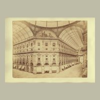 Antique Photo: Galleria Vittorio Emanuele II in Milan, Italy