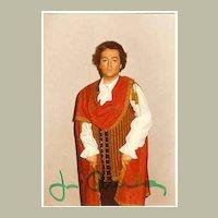 1977: Jose Carreras Autograph on private Photo. CoA