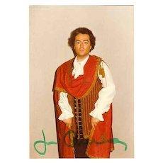 Jose Carreras Autograph on private Photo 1977 with CoA