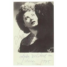 Ljuba Welitsch Autograph on Salome Photo Signed 1977. CoA