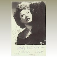 Ljuba Welitsch Autograph on Salome Photo Signed 1977. CoA