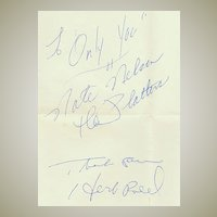 The Platters, Herb Reed and Nate Nelson Autographs on Sheet. 1979
