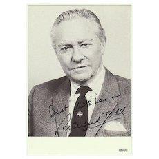 Richard Todd Autograph. Hand signed Photo. CoA