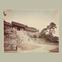 Japanese Albumen Photo Suwa Temple, Nagasaki. 1880s 諏訪神社
