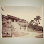 Japanese Albumen Photo Suwa Temple, Nagasaki. 1880s 諏訪神社