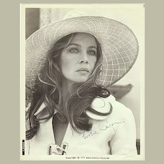 Leslie Caron Autograph from 1970s. CoA