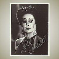 Helga Dernesch Autograph. Hand signed Photo. CoA