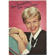 Doris Day Autograph: Hand-signed early Postcard. CoA