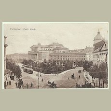 Old Poland, Warsaw: Opera Narodowa and Street Scene. 1923