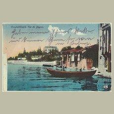 Old Turkey: Vintage Postcard Constantinople to Austria