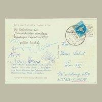 Austrian Mountaineer Fritz Moravec Lot: Autograph and Special Mail