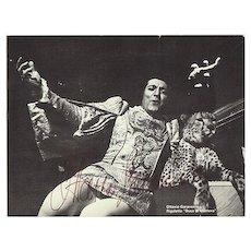 Ottavio Garaventa in Rigoletto. Autograph with CoA