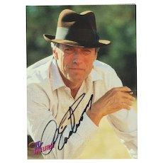 Clint Eastwood Autograph on Card. CoA