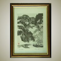 Xu Xi: Lithograph from 1988. Nr. 4 of 10.