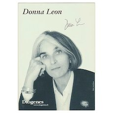 Donna Leon Autograph, CoA