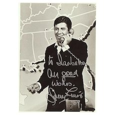 Lovely Autograph of the unforgettable Jerry Lewis, CoA