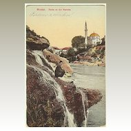 W.W.I.: Mostar vintage Postcard as Military Post