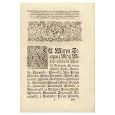 Antique Document Edict by Empress Maria Theresa from 1772