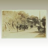 Old Chinese Photo Postcard. Sedan Chairs.