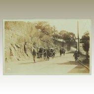 Old Chinese Photo Postcard. Sedan Chairs.