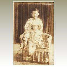 Cute old Studio Photo of Philippine Kids. App. 1910