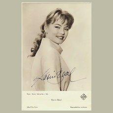 Karin Baal Autograph. CoA