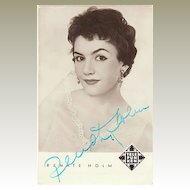 Renate Holm Autograph CoA