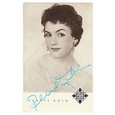 Renate Holm Autograph CoA Soprano Opera and Lieder