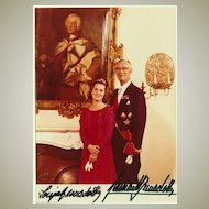 Royalty Autograph: Prince Bernadotte and Wife Sonja. Signed Photo. CoA