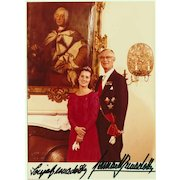 Royalty Autograph: Prince Bernadotte and Wife Sonja. Signed Photo. CoA