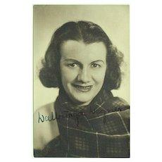 Soprano Walburga Wegner Autograph on Photo. CoA