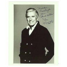 John Forsythe Autograph: Hand signed Photo, 8 x 10, CoA