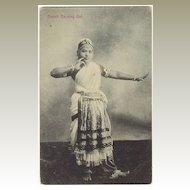 Dancing Girl from Ceylon. Vintage Postcard.