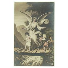 Vintage with Kids and Guardian Angel, 1919