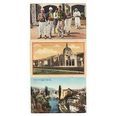 Sarajevo: 3 Vintage Postcards, Ethnic, View of Town