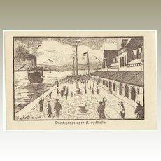 German Prisoner of War Postcard, 1919