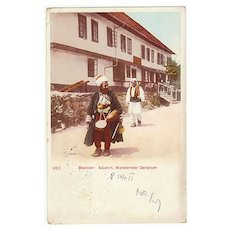 Wandering Dervishes in Bosnia. Vintage Postcard from 1913