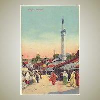 Sarajevo Postcard, Mosque and Bazar, app. 1915