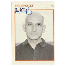 Ben Kingsley Autograph: Hand signed Print. CoA