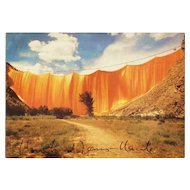 Christo and Jeanne Claude Autographs on Running Fence Print. CoA