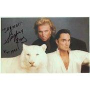 Siegfried and Roy Autograph. Hand signed Photo-Print. 8 x 5. CoA